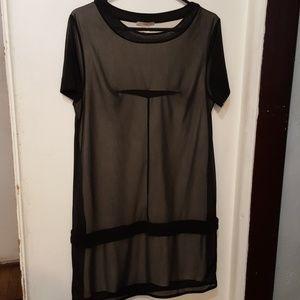 H &M black shear tank dress